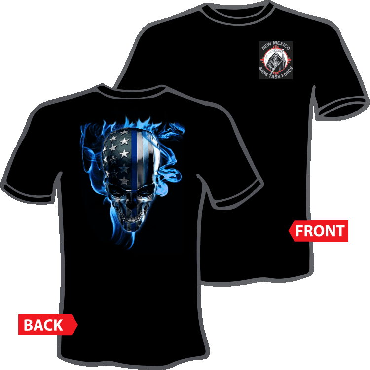 Blue Flame Skull T-Shirt